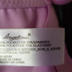 Angelina Intimates & Sleepwear - Angelina 4 hook Lavender Bra 42DDD